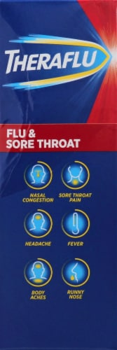 Theraflu Flu & Sore Throat Apple Cinnamon Powder Perspective: right