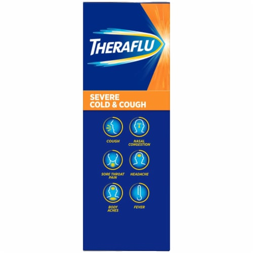 Theraflu Daytime Berry Flavored Severe Cold & Cough Packets Perspective: right