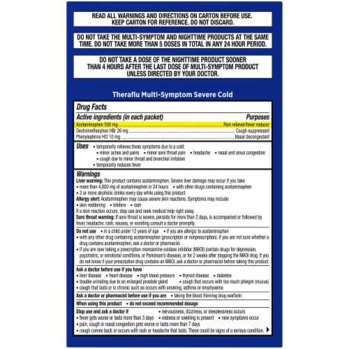 Theraflu Multi-Symptom and Nighttime Severe Cold & Cough Combo Pack Perspective: right