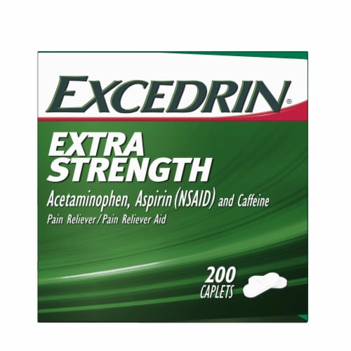 Excedrin Extra Strength Caplets Perspective: right