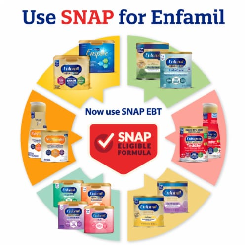 Enfamil Gentlease Milk-Based Infant Formula Powder Perspective: right