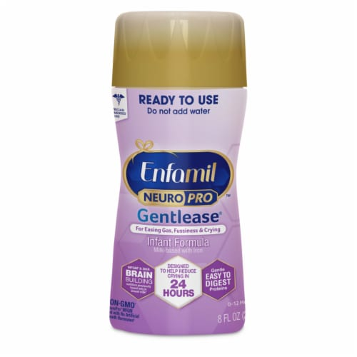 Enfamil NeuroPro Gentlease Ready to Use Infant Formula Bottles Perspective: right