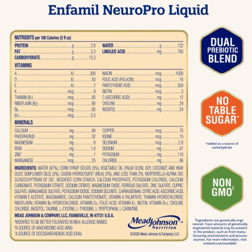 Enfamil Infant NeuroPro Non-GMO Ready to Feed Infant Formula Perspective: right