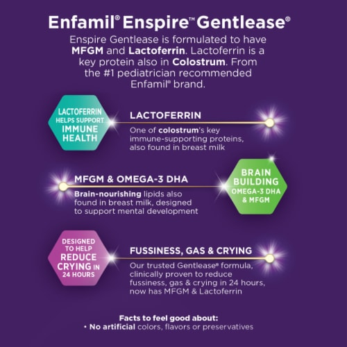 Enfamil Enspire Gentlease Powdered Infant Formula Pouches Perspective: right