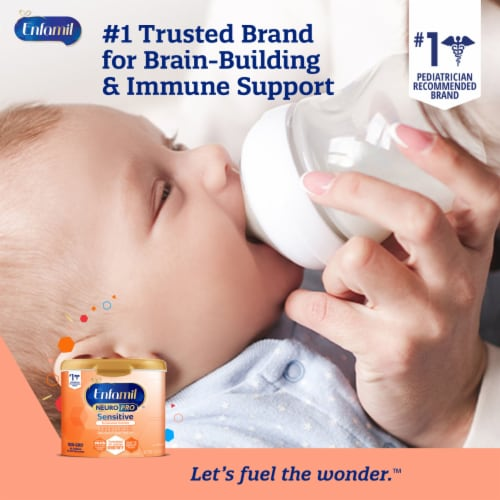 Enfamil NeuroPro Sensitive Infant Formula Milk-Based Powder with Iron Perspective: right