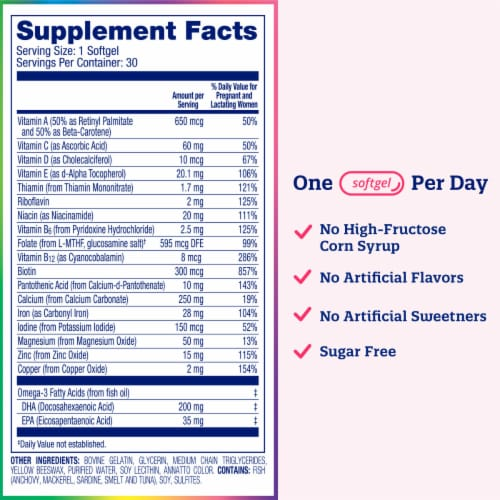 Enfamil Enfamom Prenatal Multivitamin Softgels 30 Count Perspective: right