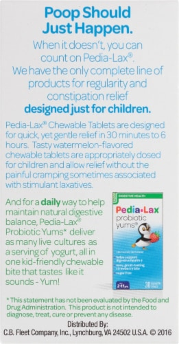 Pedia-Lax Saline Laxative Chewable Tablets Perspective: right