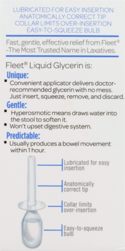 Fleet Liquid Glycerin Laxative Suppositories Perspective: right