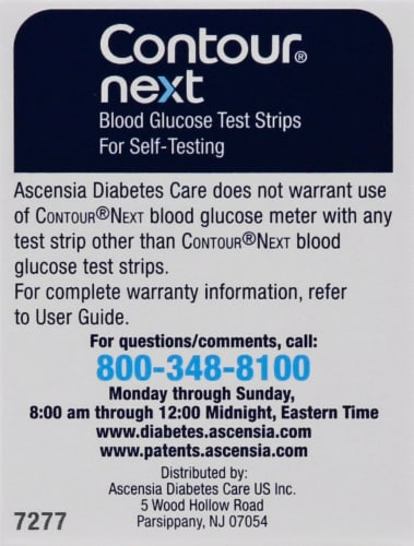 Contour Next Blood Glucose Test Strips Perspective: right