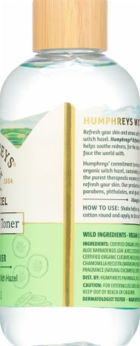Humphrey's Witch Hazel Alcohol-Free Cucumber Toner Perspective: right