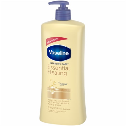 Vaseline Intensive Care Essential Healing Body Lotion Perspective: right