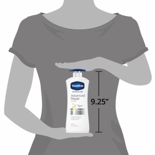 Vaseline Intensive Care Advanced Repair Unscented Body Lotion Perspective: right