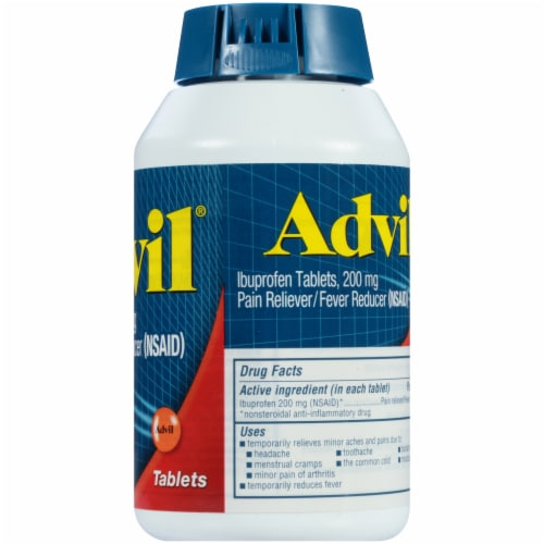 Advil® Pain Reliever/Fever Reducer Coated Tablets 200mg Perspective: right