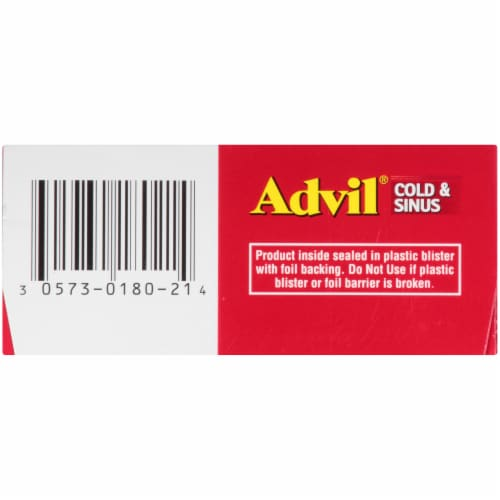 Advil Cold & Sinus Coated Caplets Perspective: right