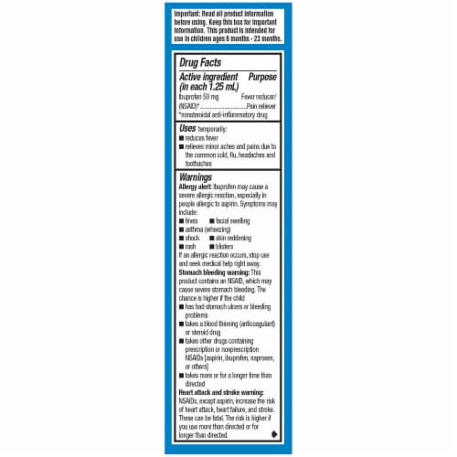 Infants' Advil White Grape Flavored Ibuprofen Oral Suspension Concentrated Drops Perspective: right
