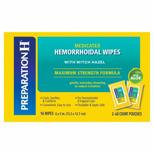 Preparation H Medicated Hemorrhoidal Wipes with Aloe Perspective: right