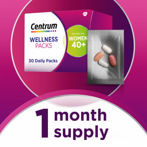Centrum Women's 40+ Daily Wellness Packs Perspective: right