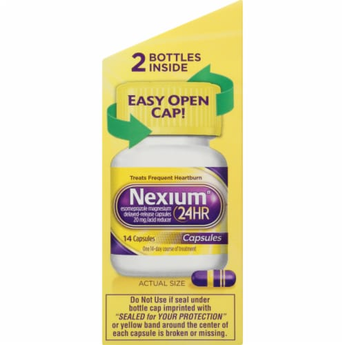 Nexium 24-Hour Delayed Release Heartburn Relief Capsules Perspective: right