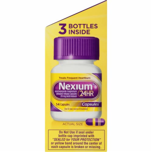 Nexium 24-Hour Delayed Release Heartburn Relief Capsules 20mg Perspective: right