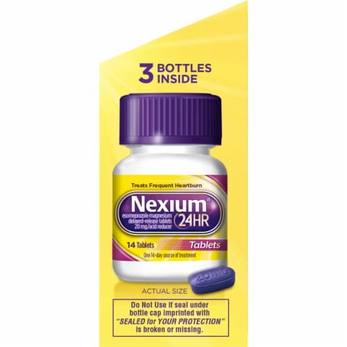 Nexium 24-Hour Delayed Release Acid Reducer Tablets Perspective: right