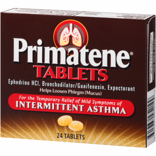 Primatene Bronchial Asthma Tablets Perspective: right