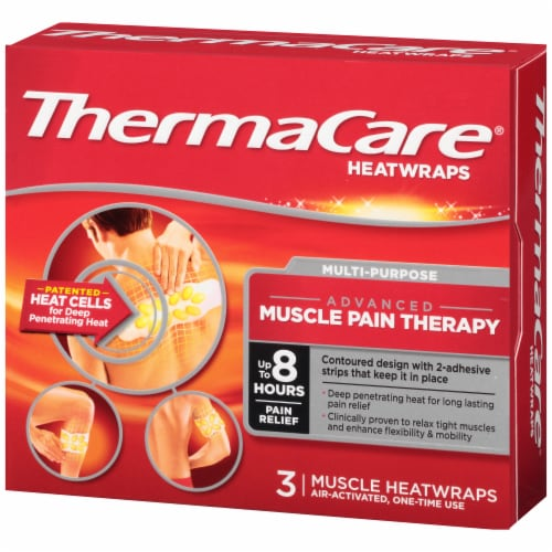 ThermaCare Multi-Purpose Advanced Muscle Pain Therapy Heatwraps Perspective: right