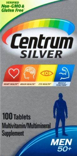 Centrum Silver Men 50+ Multivitamin Supplement Tablets Perspective: right