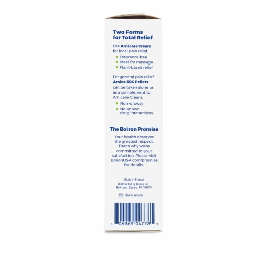 Boiron Arnicare Homeopathic Pain Relief Cream Perspective: right