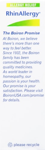Boiron® RhinAllergy® Allergy Relief Tablets Perspective: right