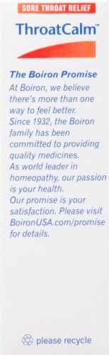 Boiron ThroatCalm Sore Throat Relief Meltaway Tablets Perspective: right