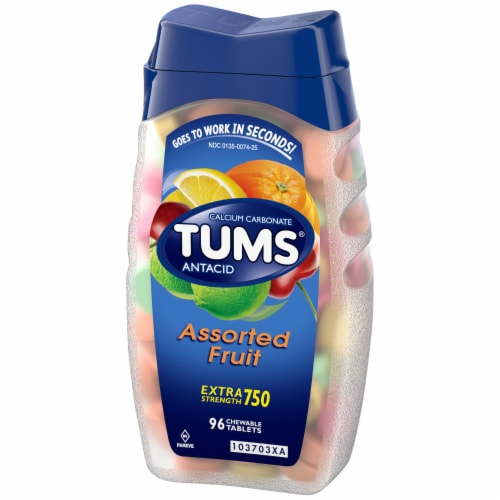 Tums Assorted Fruit Extra Strength Antacid Tablets Perspective: right