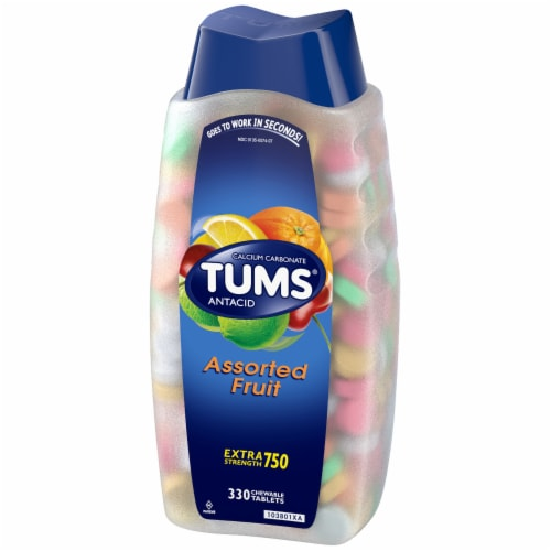 Tums Assorted Fruit Antacid Chewable Tablets Perspective: right