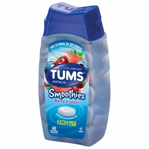Tums Smoothies Berry Fusion Antacid Chewable Tablets Perspective: right