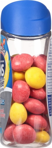 Tums with Gas Relief Lemon & Strawberry Chewy Bites Antacids Perspective: right