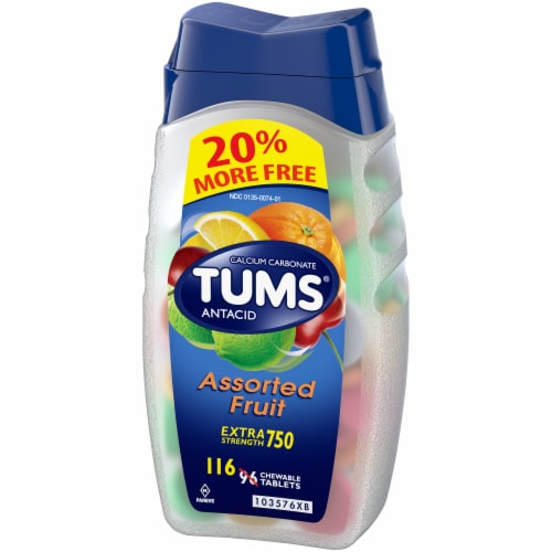 Tums Extra Strength Assorted Fruit Antacid Chewable Tablets Perspective: right