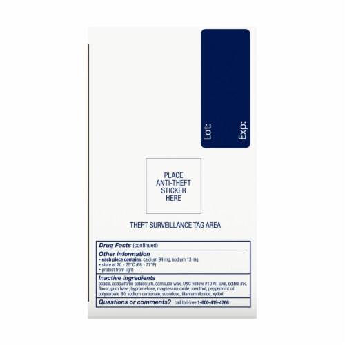 Nicorette Smoking Cessation Fruit Chill Nicotine Gum 4mg Perspective: right
