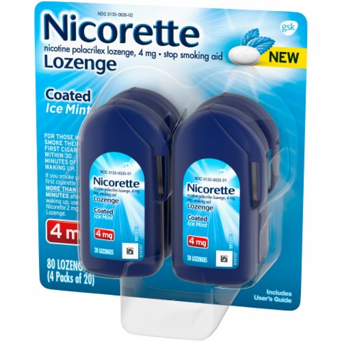 Nicorette Coated Ice Mint Lozenges 4mg Perspective: right