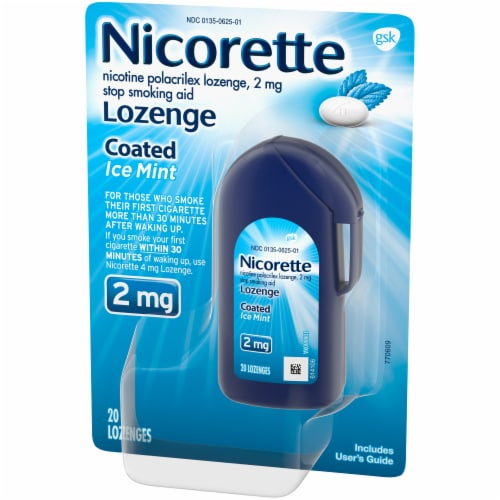 Nicorette Ice Mint Coated Lozenges 2mg Perspective: right
