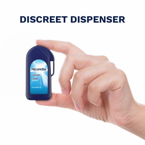 Nicorette Ice Mint 2mg Coated Lozenge Perspective: right