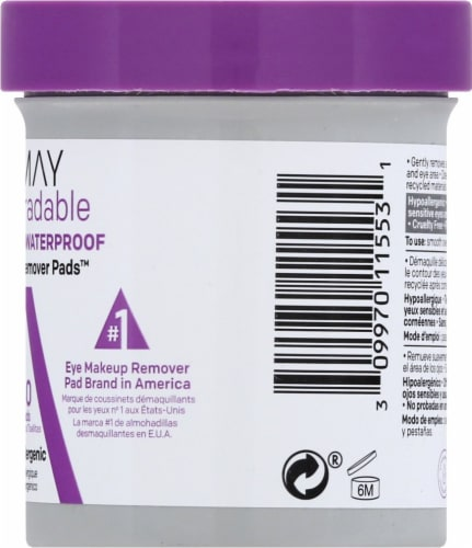 Almay Biodegradable Eye Makeup Remover Pads Perspective: right
