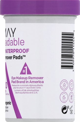 Almay Biodegradable Longwear & Waterproof Eye Makeup Remover Pads Perspective: right