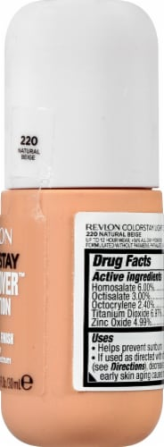 Revlon ColorStay Natural Beige Light Cover Foundation SPF 35 Perspective: right