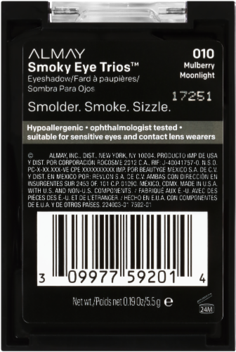 Almay Smoky Eye Trios 010 Mulberry Moonlight Eyeshadow Perspective: right