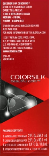 Revlon Colorsilk 10 Black Hair Color Perspective: right