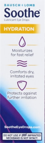 Bausch & Lomb Soothe Hydration Dry Eye Drops Perspective: right