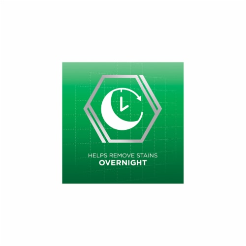 Polident Overnight Whitening Antibacterial Denture Cleanser Tablets Perspective: right