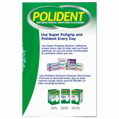 Polident Overnight Whitening Denture Cleanser Tablets Perspective: right