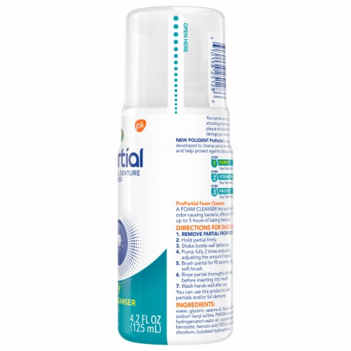 Polident Pro Partial Foam Denture Cleanser Perspective: right