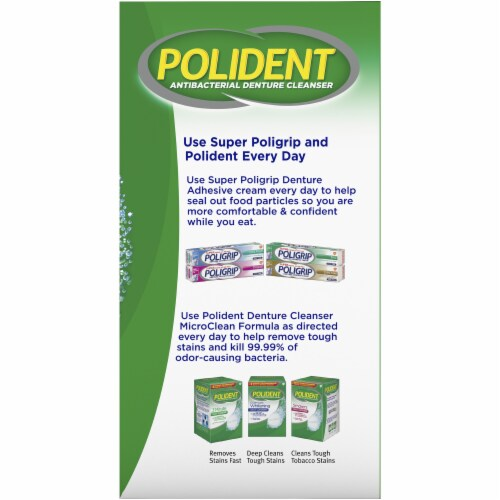 Polident Smokers Denture Cleanser Tablets Perspective: right