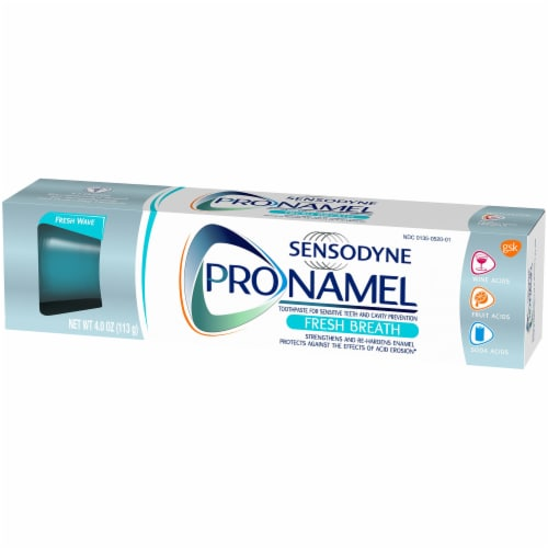 Sensodyne Pronamel Fresh Breath Sensitivity Toothpaste Perspective: right